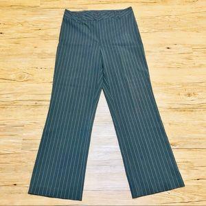 Vintage Gray pinstripe women trouser slacks sz 12